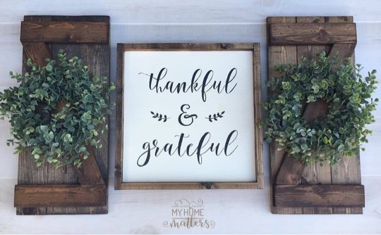 Dark Walnut frame on sign and on barn doors and graphite lettering; barn doors 10.5x24 - this font is done in an old font but a similar font is Magnolia Sky.